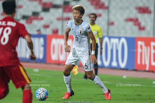 Ryo Hatsuse (JPN), OCTOBER 27, 2016 - Football / Soccer : AFC U-19 Championship Bahrain 2016 Semi-final match between Vietnam 0-3 Japan at Bahrain National Stadium in Riffa, Bahrain. (Photo by AFLO)