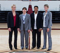 Coaching staff of the Stanford Women's basketball team photo. Photo taken on Wednesday, October 2, 2013