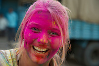 Varanasi India, Holi Festival