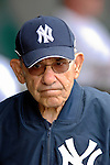 16 March 2007: New York Yankees Hall of Fame catcher, manager, and pop icon Yogi Berra arrives in Kissimmee after a bus ride from Tampa as Yankees face the Houston Astros at Osceola County Stadium in Kissimmee, Florida...Mandatory Photo Credit: Ed Wolfstein Photo