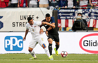 Chicago, IL - June 7, 2016: The U.S. Men's national team take a 3-0 lead over Costa Rica from a goal by Bobby Wood during a first round match at the 2016 Copa America Centenario at Soldier Field.