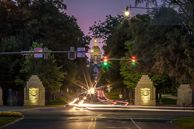 Sept. 9, 2015; Notre Dame Avenue (Photo by Matt Cashore/University of Notre Dame)