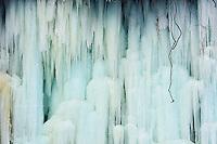 Ice formation on Minnehaha Falls in Minneapolis, Minnesota.