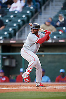 Boston Red Sox Pablo Sandoval (41) at bat while on rehab assignment with the Pawtucket Red Sox during a game against the Buffalo Bisons on May 19, 2017 at Coca-Cola Field in Buffalo, New York.  Buffalo defeated Pawtucket 7-5 in thirteen innings.  (Mike Janes/Four Seam Images)