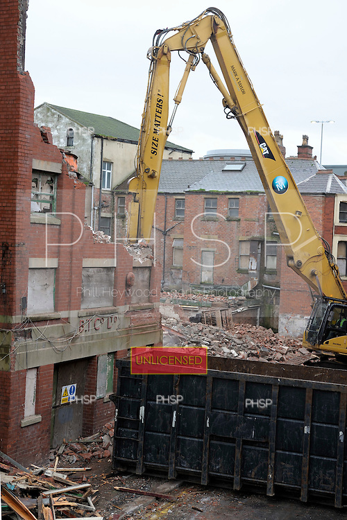 Blackpool Tower company warehouse under demolition Tower Street Blackpool Lancashire UK.....© Phill Heywood.