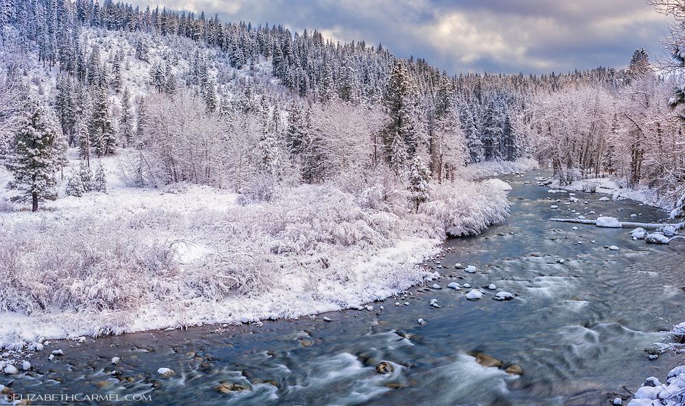 Winter Panorama, Truckee River