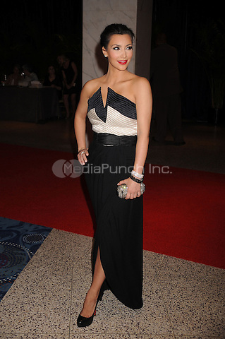 Kim Kardashian arrives at the White House Correspondents' Association Dinner in Washington, DC. May 1, 2010. Credit: Dennis Van Tine/MediaPunch