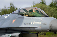 A Turkish pilot makes tiger gestures. Nato Tiger Meet is an annual gathering of squadrons using the tiger as their mascot. While originally mostly a social event it is now a full military exercise. Tiger Meet 2012 was held at the Norwegian air base Ørlandet.