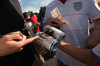 USA fans buy some local beer before the United States played Guatemala at Estadio Mateo Flores in Guatemala City, Guatemala in a World Cup Qualifier on Tue. June 12, 2012.