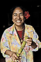 Oct, 2007, Easter Island, Chile Easter Iland`s women. After 5 days as a tourist, photographer Lorenzo Moscia set to discover the real life of one of the more surprising places of the World, mix of cultures between Oceania and Latin America, with a native population near extintion./