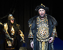 London, UK. 01.04.2014. The Kolobov Novaya Opera presents PRINCE IGOR at the London Coliseum. Picture shows: Act II - Polovtsian Camp, with Konchak (Vladimir Kudashev). Photograph © Jane Hobson.