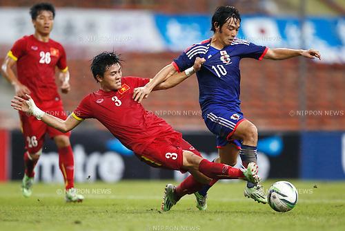 Shoya Nakajima (JPN), MARCH 29, 2015 - Football / Soccer : AFC U-23 Championship 2016 Qualification Group I match between U-22 Japan 2-0 U-22 Vietnam at Shah Alam Stadium in Shah Alam, Malaysia. (Photo by Sho Tamura/AFLO SPORT)