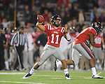 Ole Miss' Barry Brunetti(11) vs. LSU at Vaught-Hemingway Stadium in Oxford, Miss. on Saturday, November 19, 2011.