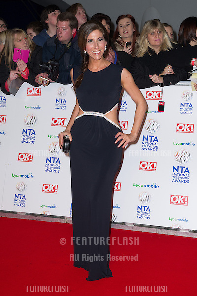 Gaynor Faye arriving for the National TV Awards 2014, at the O2, London. 22/01/2014 Picture by: Dave Norton / Featureflash
