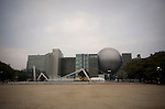 Photo shows the metropolitan science museum as it is seen from Shirakawa Park in Nagoya, Aichi Prefecture, Japan on 13 Oct. 2011. Photograph: Robert Gilhooly