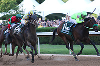 HOT SPRINGS, AR - April 15: Classic Empire #2 and jockey Julien Leparoux run down Conquest Mo Money #11 to win the Arkansas Derby at Oaklawn Park on April 15, 2017 in Hot Springs, AR. (Photo by Ciara Bowen/Eclipse Sportswire/Getty Images)