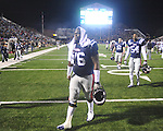 Ole Miss' A.J. Hawkins (76) walks off the field at Vaught-Hemingway Stadium on Saturday, November 27, 2010. Mississippi State won 31-23.