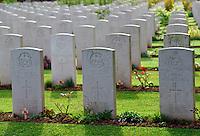 British World War II graves, Commonwealth war cemetery, northern France