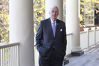 Former Governor Gerald L. Baliles, director of the Miller Center of Public Affairs at the University of Virginia, was photographed for the Rural Horseshoe Initiative in Charlottesville, VA. Photo/Andrew Shurtleff
