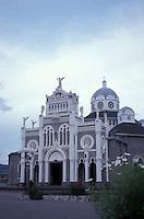 The Byzantine-style La Basilica de Nuestra Senora de los Angeles in Cartago, Costa Rica