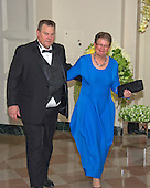 United States Senator Jon Tester (Democrat of Montana) and Sharla Tester arrive for the State Dinner in honor of Prime Minister Trudeau and Mrs. Sophie Gr&eacute;goire Trudeau of Canada at the White House in Washington, DC on Thursday, March 10, 2016.<br /> Credit: Ron Sachs / Pool via CNP