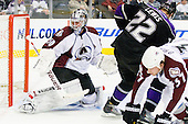 Brian Elliott (Colorado Avalanche, #30) during ice-hockey match between Los Angeles Kings and Colorado Avalanche in NHL league, Februar 26, 2011 at Staples Center, Los Angeles, USA. (Photo By Matic Klansek Velej / Sportida.com)