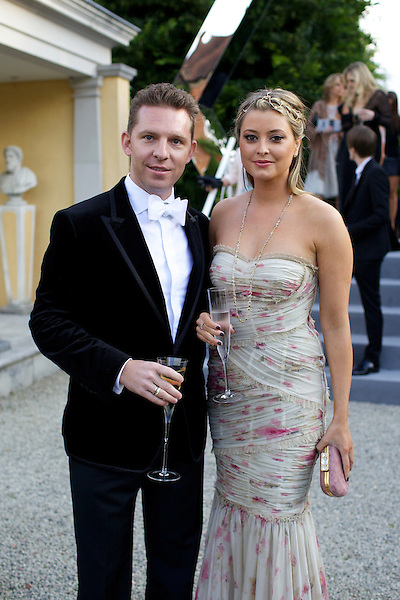 Nick Candy and Holly Valance wearing Dolce & Gabbana at Elton John's White Tie and Tiara Ball