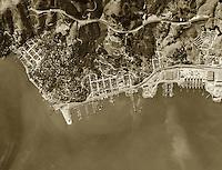 historical aerial photograph Sausalito Marin County California 1946