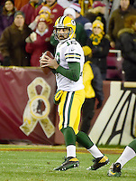 Green Bay Packers quarterback Aaron Rodgers (12) looks for a receiver in first quarter action against the Washington Redskins at FedEx Field in Landover, Maryland on Sunday, November 20, 2016.<br /> Credit: Ron Sachs / CNP /MediaPunch
