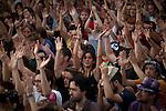 """General Assembly to decide the continuity of camping. The movement Real democracy now and 15 M """" appeared on 15 May, remain encamped in Puerta del Sol in Madrid to protest against the political and financial situation in Spain.///.Asamblea general para decidir la continuidad de la acampada. El movimiento """" Democracia real ya y 15 M """" surgido el 15 de mayo, acampa en la Puerta del Sol de Madrid en protesta por la situacion politico - finaciera en España. Photo by Jose Luis Cuesta"""