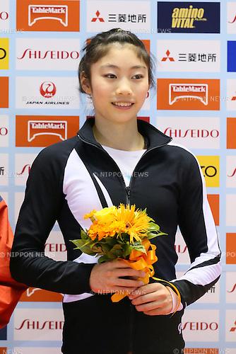 Yuki Uchiyama, <br /> MAY 17, 2015 - Artistic Gymnastics : <br /> The 54th NHK Cup <br /> Individual All-Around <br /> Award Ceremony <br /> at Yoyogi 1st Gymnasium, Tokyo, Japan. <br /> (Photo by YUTAKA/AFLO SPORT)