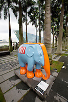"Singapore. Marina Bay Sands. Elephant Parade: ""Monty"" (Aston Martin Design)."