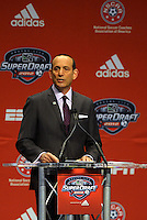 MLS Commisoner Dan Garber... The 2012 MLS Superdraft was held on January 12, 2012 at The Kansas City Convention Center, Kansas City, MO.