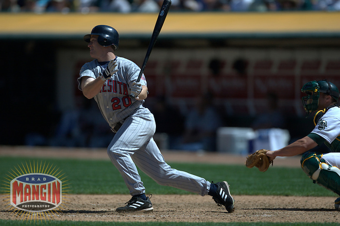 Lew Ford. Minnesota Twins vs Oakland Athletics. Oakland, CA 5/8/2004 MANDATORY CREDIT: Brad Mangin