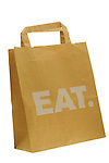 Eat. Brown Paper Carrier Bag
