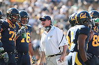 Offensive Line Coach Steve Marshall. The University of California Berkeley Golden Bears defeated the UC Davis Aggies 52-3 in their home opener at Memorial Stadium in Berkeley, California on September 4th, 2010.