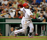 12 July 2008: Washington Nationals' infielder Ronnie Belliard in action against the Houston Astros at Nationals Park in Washington, DC. The Astros defeated the Nationals 6-4 in the second game of their 3-game series...Mandatory Photo Credit: Ed Wolfstein Photo