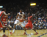 Ole Miss forward Steadman Short (15)  drives past Georgia's Dustin Ware (3) at the C.M. &quot;Tad&quot; Smith Coliseum in Oxford, Miss. on Saturday, January 15, 2011. Georgia won 98-76.  (AP Photo/Oxford Eagle, Bruce Newman)