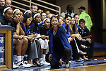 14 November 2013: Duke head coach Joanne P. McCallie. The Duke University Blue Devils played the University of South Carolina Upstate Spartans at Cameron Indoor Stadium in Durham, North Carolina in a 2013-14 NCAA Division I Women's Basketball game. Duke won the game 123-40.