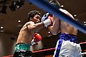 (L-R) Rikki Naito, Yusuke Nakagawa (JPN),<br /> APRIL 10, 2017 - Boxing :<br /> Rikki Naito of Japan in action against Yusuke Nakagawa of Japan during the fourth round of the 8R lightweight bout at Korakuen Hall in Tokyo, Japan. (Photo by Hiroaki Yamaguchi/AFLO)
