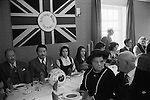 The lunch before the football game starts. Royal Shrovetide Football. Ashbourne Derbyshire, England 1974. Annually Shrove Tuesday and Ash Wednesday.  My ref 2/725/1974