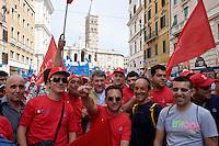 Roma, 22 Giugno 2013<br /> Lavoro &egrave; Democrazia. Manifestazione di CGIL, CISL e UIL. Maurizo Landini Segretario Nazionale della FIOM<br /> Demonstration by trade unions in Rome