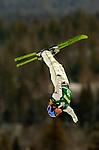 16 January 2005 - Lake Placid, New York, USA - Kate Reed representing the USA, competes in the FIS World Cup Ladies' Aerial acrobatic competition, ranking 8th for the day at the MacKenzie-Intervale Ski Jumping Complex, in Lake Placid, NY. ..Mandatory Credit: Ed Wolfstein Photo.