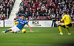 Hearts v St Johnstone...02.08.15   SPFL Tynecastle, Edinburgh<br /> Graham Cummins makes it 3-3<br /> Picture by Graeme Hart.<br /> Copyright Perthshire Picture Agency<br /> Tel: 01738 623350  Mobile: 07990 594431