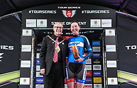 Picture by Simon WilkinsonSWpix.com 11/05/2017 - Cycling - Tour Series Round 2 - Matrix Fitness Womens Race Stoke, Stoke-on-Trent, England - Team WMT's Katie Archibald takes the Brother Cycling Fastest Lap award at the Tour Series Matrix Fitness Womens Race in Stoke.