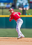 7 March 2016: Washington Nationals infielder Danny Espinosa in action during a Spring Training pre-season game against the Miami Marlins at Space Coast Stadium in Viera, Florida. The Nationals defeated the Marlins 7-4 in Grapefruit League play. Mandatory Credit: Ed Wolfstein Photo *** RAW (NEF) Image File Available ***