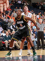 CHARLOTTESVILLE, VA- DECEMBER 6: Jonathan Arledge #5 of the George Mason Patriots looks for the rebound with Joe Harris #12 of the Virginia Cavaliers during the game on December 6, 2011 at the John Paul Jones Arena in Charlottesville, Virginia. Virginia defeated George Mason 68-48. (Photo by Andrew Shurtleff/Getty Images) *** Local Caption *** Joe Harris;Jonathan Arledge