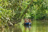 Canal exploration, Tortuguero, Costa Rica, Central America.