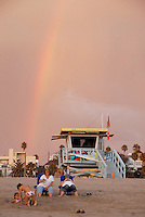A rainbow shines over Santa Monica  on Wednesday, Sept 29, 2010.