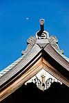 Hokokuji, Jomyoji and Tsurugaoka Hachimangu, Kamakura, Japan on 24 Jan. 2012. Photographer: Robert GilhoolyPhoto shows a detail of the roof of the main hall at  Hokokuji temple in Kamakura, Japan on 24 Jan. 2012. Photographer: Robert Gilhooly